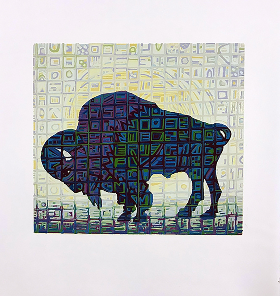 Artwork of a Buffalo still by Eric Johnson