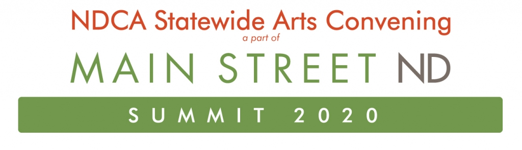 Image says NDCA Statewide Arts Convening part of Main Street Summit 2020